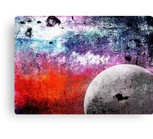 Lunatic Love - The moon and Heart - Grunge Textures Canvas Print