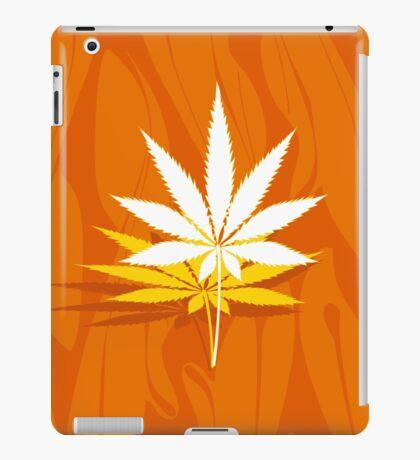 Marijuana and Cannabis Leaf Illustration iPad Case/Skin
