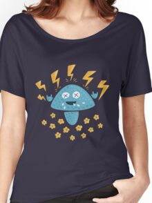 Funny Heavy Metal Mushroom Women's Relaxed Fit T-Shirt