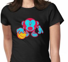 Play Basketball Monkey Womens Fitted T-Shirt