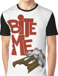 Bite Me - Chocolate Bar Graphic T-Shirt