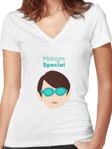 Midnight Special Women's Fitted V-Neck T-Shirt
