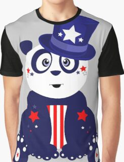 Patriotic Panda Graphic T-Shirt