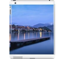 Lago di Como (Lake Como) Ossuccio and Isola Comacina at blue hour iPad Case/Skin