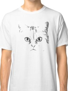 Green Eyes Silver Cat Classic T-Shirt