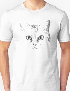 Green Eyes Silver Cat Unisex T-Shirt