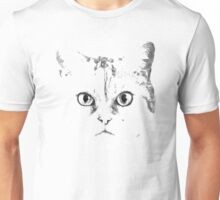 Green Eyes Silver Cat Unisex T-Shirt