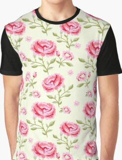 Seamless Flowers Graphic T-Shirt