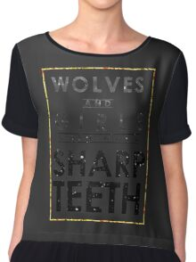 Wolves and Girls Chiffon Top