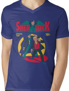 sherlock comic Mens V-Neck T-Shirt