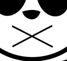 Panda Cross Bone Sticker