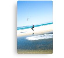 Kitesurfer boosts an air Canvas Print