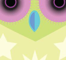 Star Owl - Green Purple Blue Sticker