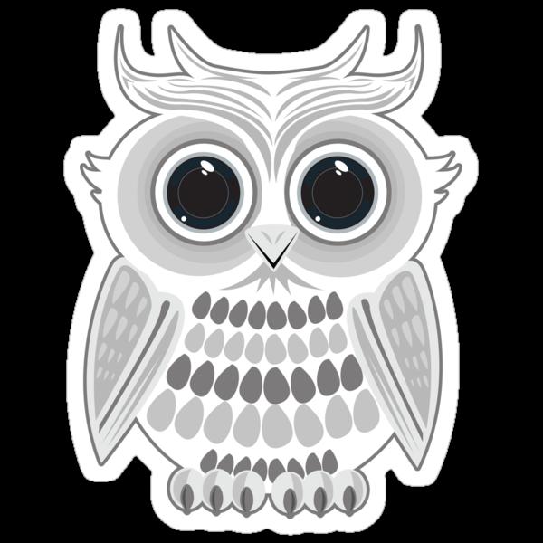 White Owl - Grey by Adamzworld