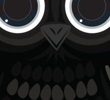 Black Owl - White Sticker