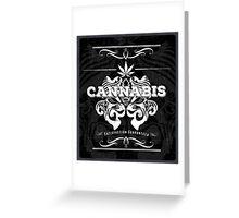 Cannabis Art Deco Retro Design Greeting Card