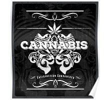 Cannabis Art Deco Retro Design Poster