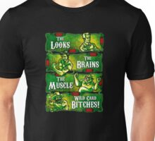 The Looks The Brain The Muscles Philly Crue Unisex T-Shirt