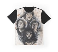4 Hobbits Caffeine Shock Graphic T-Shirt