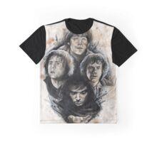 4 Hobbits Caffeine Shock Graphic T-Shirt