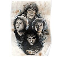 4 Hobbits Caffeine Shock Poster