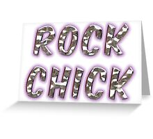 Rock Chick Chrome With Purple Glow Greeting Card