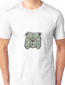 Bulldog Head Isolated Cartoon Unisex T-Shirt