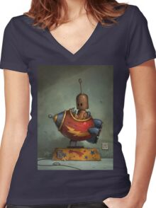 To Boldly Go Women's Fitted V-Neck T-Shirt