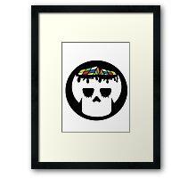Rubix Skull Framed Print