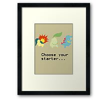 2nd Gen Starters Framed Print