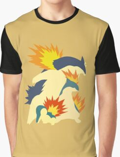 Cyndaquil Evolution Graphic T-Shirt