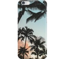 Palm Tree Silhouettes iPhone Case/Skin