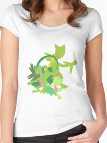 Treecko Evolution Women's Fitted Scoop T-Shirt