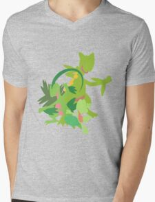 Treecko Evolution Mens V-Neck T-Shirt