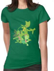Treecko Evolution Womens Fitted T-Shirt