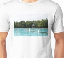 Plovdiv Singing Fountains - Bright Aquamarine Water, Dancing Jets and Music Unisex T-Shirt