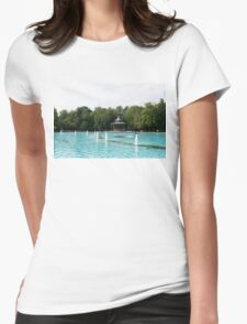 Plovdiv Singing Fountains - Bright Aquamarine Water, Dancing Jets and Music Womens Fitted T-Shirt