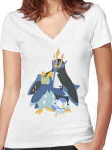 Piplup Evolution Women's Fitted V-Neck T-Shirt