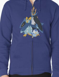 Piplup Evolution Zipped Hoodie