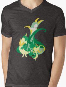 Snivy Evolution Mens V-Neck T-Shirt