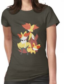 Fennekin Evolution Womens Fitted T-Shirt