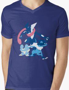 Froakie Evolution Mens V-Neck T-Shirt