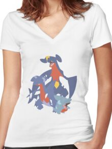 Gible Evolution Women's Fitted V-Neck T-Shirt
