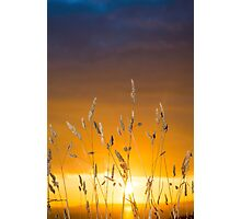 beautiful sunset over the ballybunion coast Photographic Print