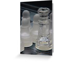 Chess Queen and Pawns Greeting Card