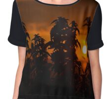 beautiful sunset through the wild nettles Chiffon Top