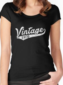 Vintage 1970 Women's Fitted Scoop T-Shirt