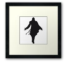 Assassin's Creed ezio silhouette black Framed Print