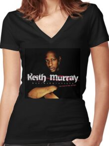 KEITH MURRAY Women's Fitted V-Neck T-Shirt
