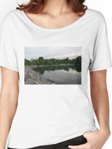 Summer Morning Tranquility - Lake Ontario in Toronto Women's Relaxed Fit T-Shirt